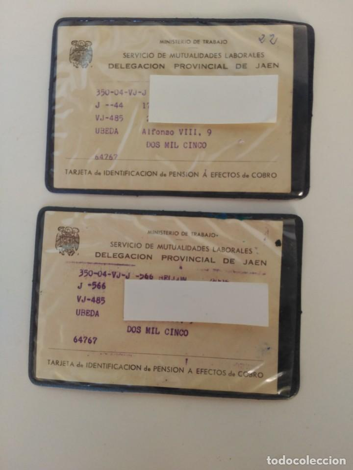 ANTIGUOS CARNETS SERVICIO MUTUALIDAD LABORAL (Coleccionismo - Documentos - Otros documentos)