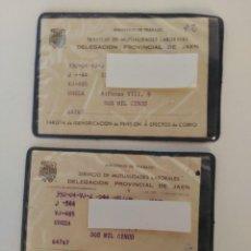 Documentos antiguos: ANTIGUOS CARNETS SERVICIO MUTUALIDAD LABORAL. Lote 155522814