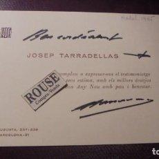 Documentos antiguos: AUTOGRAFOS - JOSEP TARRADELLAS - 1985 . DEDICATORIA Y AUTOGRAFO ORIGINAL A TINTA PRESIDENTE DE LA . Lote 155600974