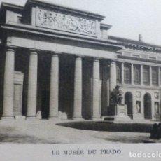 Documentos antiguos: MADRID MUSEO DEL PRADO ANTIGUO HUECOGRABADO AÑOS 30. Lote 155609114
