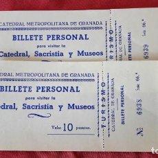 Documentos antiguos: 2 ENTRADAS AÑOS 60 A LA CATEDRAL DE GRANADA. Lote 155686694