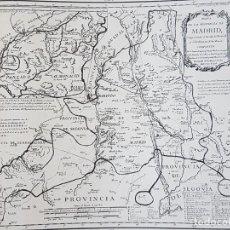 Documenti antichi: MADRID MAPA LAMINA HUECOGRABADO AÑOS 30. Lote 155701222
