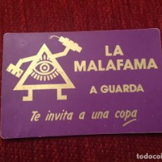 Documentos antiguos: R5701 ENTRADA TICKET DISCOTECA LA MALAFAMA A GUARDA. Lote 155793154