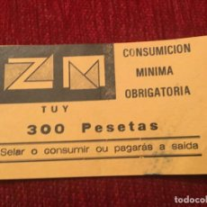 Documentos antiguos: R5702 ENTRADA TICKET DISCOTECA ZM TUY TUI. Lote 155793182