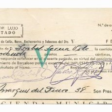 Documentos antiguos: SEIS DOCUMENTOS ANTIGUOS DIFERENTES PROVINCIA BARCELONA. Lote 155799770