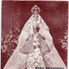 Documentos antiguos: SEVILLA, 1947, PROGRAMA NOVENA, FIESTA LITURGICA Y PROCESION VIRGEN DE LOS REYES,20 PAGINAS,RARO. Lote 156249970