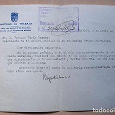 Documentos antiguos: JOAQUÍN TORÁN MARCOS · TERUEL · PROCURADOR EN LAS CORTES ESPAÑOLAS 1943-46 Y 1958. Lote 156435422