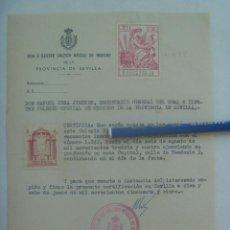 Documentos antiguos: COLEGIO OFICIAL DE MEDICOS: CERTIFICADO DE MEDICO COLEGIADO DESDE 1934. SEVILLA, 1955. VIÑETA. Lote 156509082