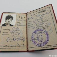 Documentos antiguos: CARNET SINDICATO SINDICAL FALANGE FALANGISTA CNS ESPECTACULOS 1969. Lote 156511178