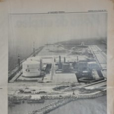 Documentos antiguos: HOJA LA VANGUARDIA 1970, FRANCO INAGURARA FACTORIA GAS NATURAL, BARCELONA. Lote 156538846