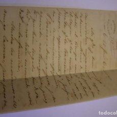 Documentos antiguos: ANTIGUA CARTA ESCRITA POR EL DIPUTADO EMILIO DE ALCARAZ, VIZCONDE DE SOLIS, AÑO 1876.. Lote 156556966