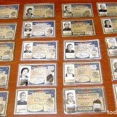 Documentos antiguos: LOTE DE 20 DNI.VER DESCRIPCION.. Lote 156569958