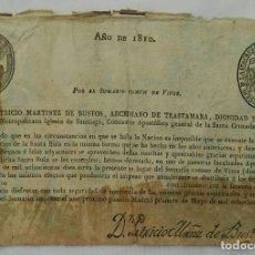 Documentos antiguos: BULA DE LA CRUZADA DE 1810 - MADRID 1809. Lote 156605666