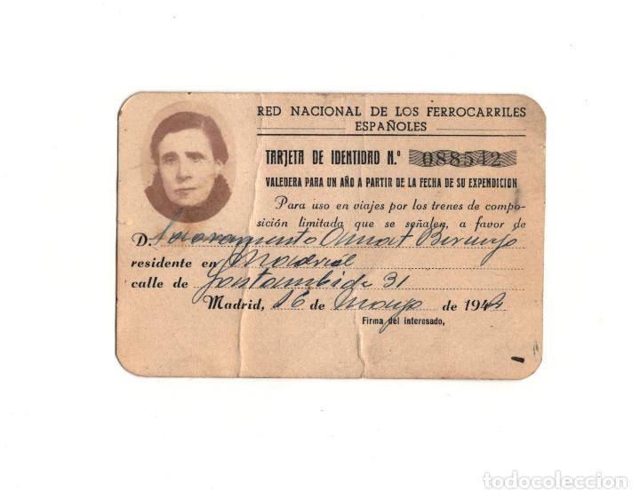 CARNET.- RED NACIONAL DE FERROCARRILES ESPAÑOLES. MADRID. 1944 (Coleccionismo - Documentos - Otros documentos)