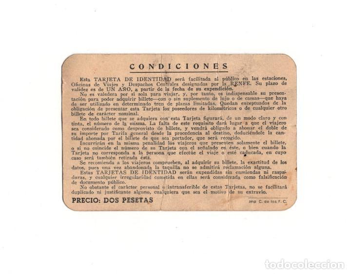 Documentos antiguos: CARNET.- RED NACIONAL DE FERROCARRILES ESPAÑOLES. MADRID. 1944 - Foto 2 - 156644822