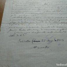 Documentos antiguos: SOLIVELLA CURSO ESCOLAR 1923 - BORRADOR DE SOLICITUD DE AUSENTARSE TEMPORALMENTE. Lote 156773642