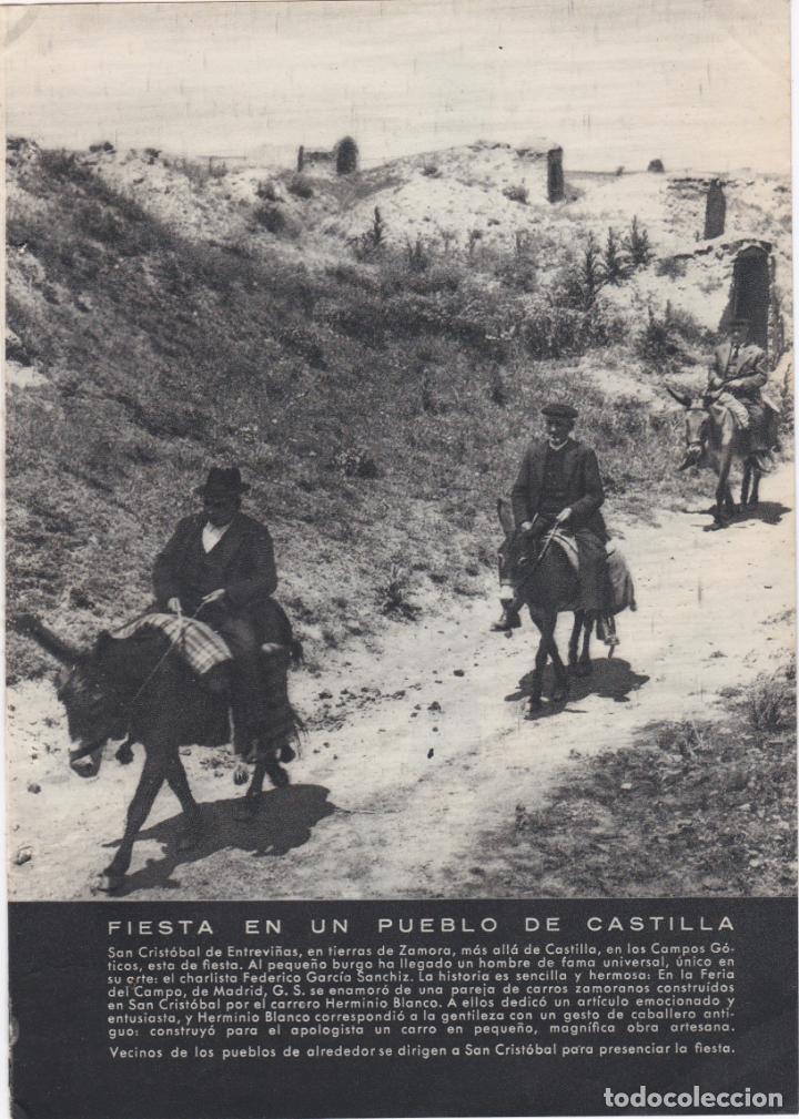 1 HOJA SUELTA + 1 HOJA DOBLE, FOTOS DE SAN CRISTOBAL DE ENTREVIÑAS, ZAMORA (Coleccionismo - Documentos - Otros documentos)