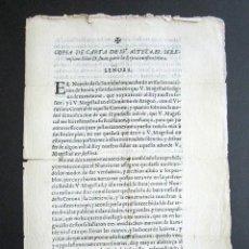 Documentos antiguos: AÑO 1669. CARLOS III. CARTAS D. JUAN DE AUSTRIA A LA REINA. MARÍA ANA DE AUSTRIA. REINA REGENTE. . Lote 157321094