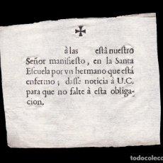 Documentos antiguos: *** RECIBO DE OBLIGACIÓN CON ENFERMO, SIGLO XVIII (SEVILLA) ***. Lote 157939250