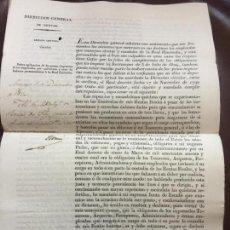 Documentos antiguos: 1830. AMENAZA DE PRISION EN AMERICAS O GALERAS,A ADMINISTRADORES RENTAS DEL ESTADO CORRUPTOS.RARO. Lote 158091594