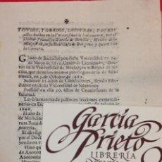 Documenti antichi: TITULOS Y GRADOS Y OTROS ACTOS HECHOS EN LA UNIVERSIDAD DE SALAMANCA 1691. Lote 158222418