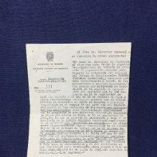Documentos antiguos: DIRECCION GENERAL OFICIAL CUERPO DE PRISIONES SEPARACION CUERPO SANCION 1945 21,5X15,5CMS. Lote 158459710