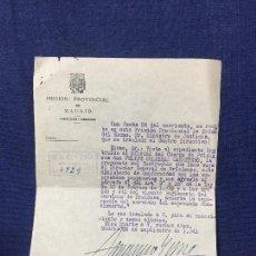 Documentos antiguos: PRISION PROVINCIAL DE MADRID SEPARACION CUERPO SANCION 1941 21,5X15,5CMS. Lote 158460414