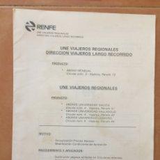 Documentos antiguos: CIRCULAR RENFE / ABONO MENSUAL UNIVERSIDAD GALICIA, VALLADOLID, LOGROÑO (1993). Lote 37636154