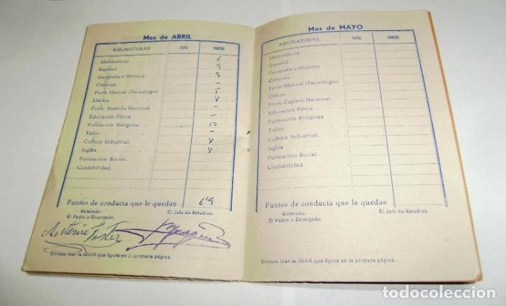 Documentos antiguos: Cuaderno de calificaciones del alumno - instituto laboral de gandia 1963. - Foto 3 - 158759854