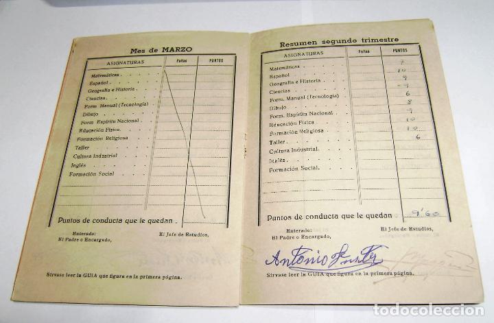 Documentos antiguos: Cuaderno de calificaciones del alumno - instituto laboral de gandia 1961. - Foto 3 - 158759914
