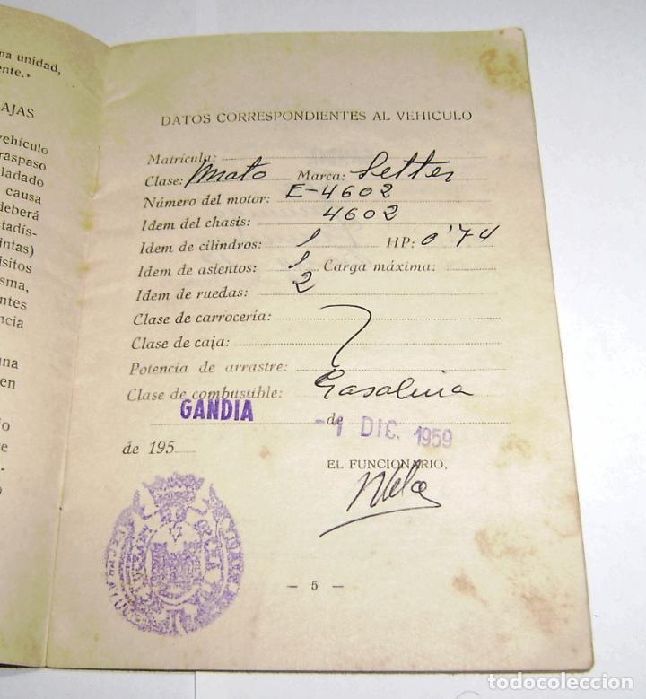 Documentos antiguos: Cartilla Municipal-Censo de Vehiculos-Sujetos a Requisa Militar.1959. - Foto 4 - 158760466