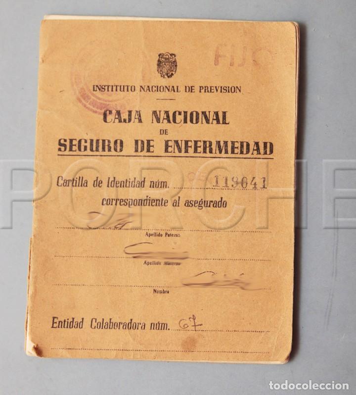 CARTILLA DE CAJA NACIONAL DE SEGURO DE ENFERMEDAD (Coleccionismo - Documentos - Otros documentos)