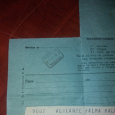 Documents Anciens: TELEGRAMA COLONIA SANTA EULALIA .. Lote 159299768