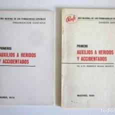 Documentos antiguos: AUXILIO A HERIDOS Y ACCIDENTADOS RENFE 1968 Y 1974 ORGANIZACIÓN DIVISIÓN SANITARIA. Lote 159349990