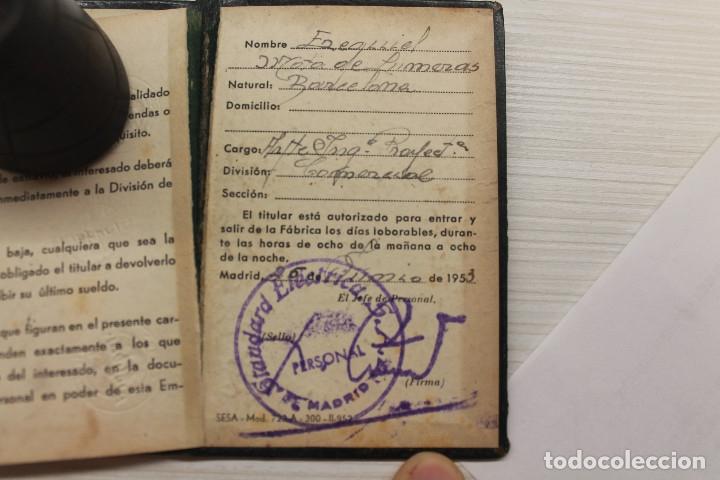 Documentos antiguos: CARNET STANDARD ELÉCTRICA SA, PIEL, 1953, TELÉFONOS, CABLES, 10X6,50 CM - Foto 4 - 129548247