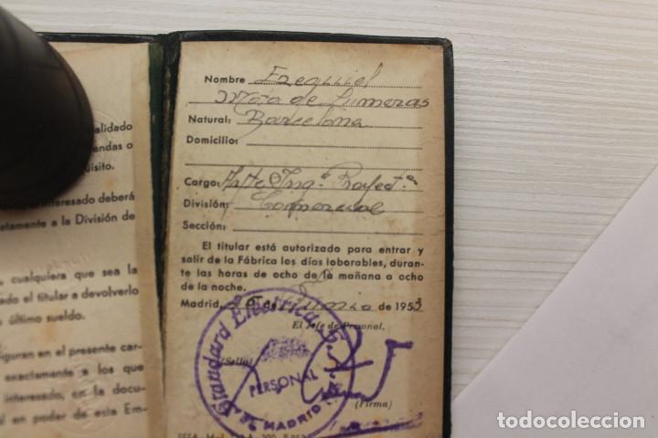 Documentos antiguos: CARNET STANDARD ELÉCTRICA SA, PIEL, 1953, TELÉFONOS, CABLES, 10X6,50 CM - Foto 6 - 129548247
