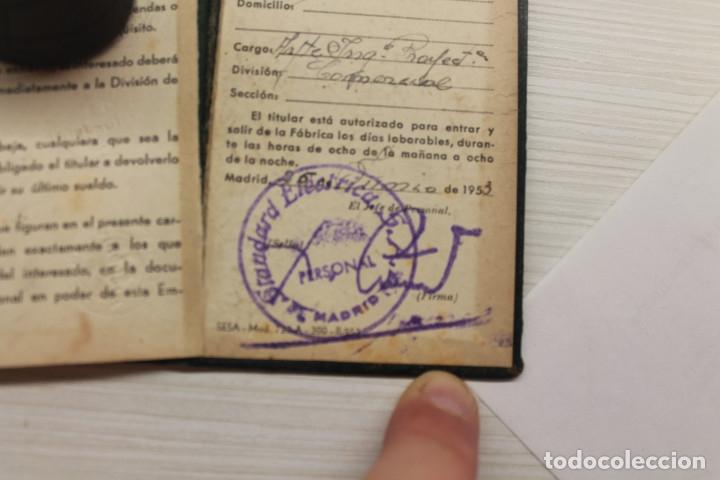 Documentos antiguos: CARNET STANDARD ELÉCTRICA SA, PIEL, 1953, TELÉFONOS, CABLES, 10X6,50 CM - Foto 7 - 129548247