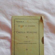 Documentos antiguos: CARTILLA MUNICIPAL. CENSO DE VEHÍCULOS SUJETOS A REQUISA MILITAR. 1965. Lote 160233368