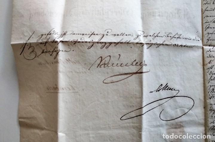 Documentos antiguos: CARTA OFICIAL K.B. GOBIERNO DEL ALTO PALATINO Y DE RATISBONA SALA DE FINANZAS AÑO 1850 SELLO EN SECO - Foto 6 - 160376506