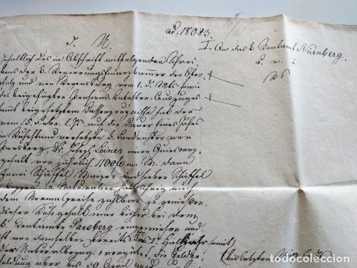 Documentos antiguos: CARTA OFICIAL K.B. GOBIERNO DEL ALTO PALATINO Y DE RATISBONA SALA DE FINANZAS AÑO 1850 SELLO EN SECO - Foto 8 - 160376506