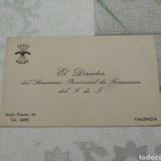 Documentos antiguos: TARJETA. Lote 160431668