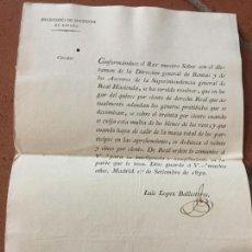 Documentos antiguos: EXTRAORDINARIO DECRETO DE 1830. AUMENTO MULTAS DECOMISOS. GALICIA, TUY, TUI. TAMAÑO FOLIO.. Lote 160701642