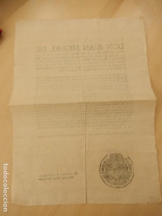 Documentos antiguos: Bando / edicto. Sobre cáñamo y lino. 1805. Mallorca. Baleares. - Foto 6 - 236498280