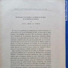 Documentos antiguos: CARAVACA COLLADO DE LA PLATA PUBLICACIÓN HISTORIA NATURAL 8 PAG. SEPARATA. Lote 160798466
