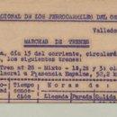 Documentos antiguos: FERROCARRIL, CIA OESTE MARCHA DE LOS TRENES NAVALMORAL PLASENCIA 1937. Lote 161158350