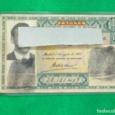 Documentos antiguos: DNI DOCUMENTO NACIONAL DE IDENTIDAD VERDE AÑO 1960. Lote 161452678
