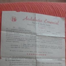 Documentos antiguos: ANTIGUA CARTA.ANDALUCIA COMERCIAL.ANTONIO GARCIA MIJARES.SEVILLA 1958. Lote 161959170