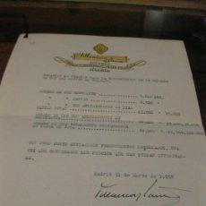 Documentos antiguos: RELACION DE PRECIOS CONSTRUCCION MEDALLA DE ORO DEL TRABAJO JOYEROS VILLANUEVA Y LAISECA 1945. Lote 161960030