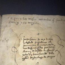 Documentos antiguos: PERGAMINO 1577. TREUDO PERPETUO EN BENEFICIO DE LA IGLESIA DE SANTIAGO. ZARAGOZA. FIRMA NOTARIAL. Lote 162269062