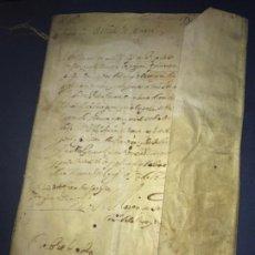 Documentos antiguos: PERGAMINO 1615. VENTA DE UN CENSAL CONDESA DE MORATA. ARANDIGA. ZARAGOZA. FIRMA NOTARIAL. Lote 162273330